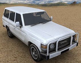 3D model Low Poly Toyota Landcruiser 1980 - Used