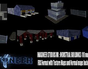 Industrial buildings pack 3D model game-ready