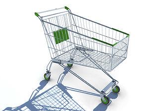 3D asset Shopping Cart with LOD