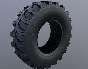 3D model low-poly Kamaz tire