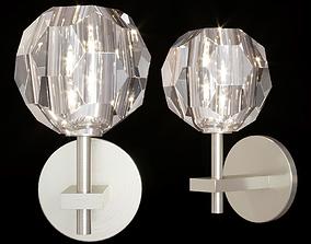 RH BOULE DE CRISTAL SINGLE SCONCE Nickel 3D model