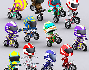 3DRT-Chibii racers - Dirt bikes animated VR / AR ready