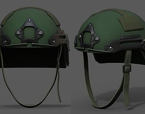 3D asset Helmet military combat fantasy