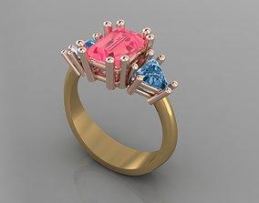 3D printable model woman rings