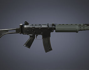 3D asset FN FNC Carbine
