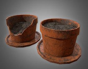 3D asset Planter Pot Set - PBR Game Ready