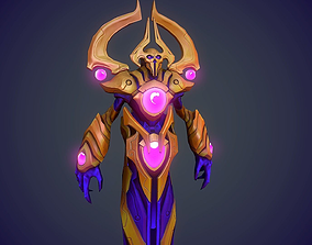 3D model Stylized hero handpainted Game res