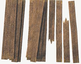 3D asset Wooden Plank Pack
