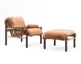 3D model Bassam Fellows Sling Club chair and Ottoman