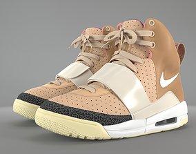 3D model Nike Air Yeezy 1 Net Tan PBR