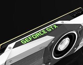 Nvidia gtx1080ti 3D model