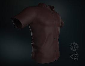 Dark Red Summer Shirt 3D model