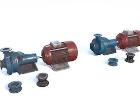 3D asset Electric motor pump PBR