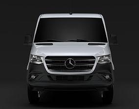 3D Mercedes Benz Sprinter Panel Van L2H1 RWD 2019