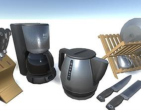 3D asset Kitchen Items Set
