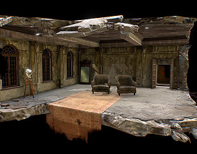 3D model Abandoned game interior 3 in 1