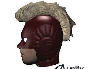3D asset Captain Marvel Head