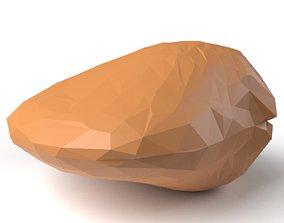 3D asset Clam Low Poligonal