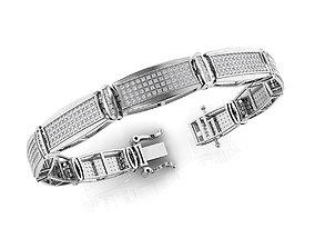 3D printable model Diamond Bracelet 7-Inch Approx