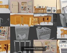 Cartoon kitchen 3D