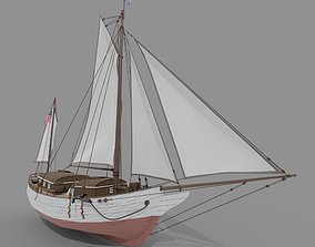 3D Oyster sloop Spray
