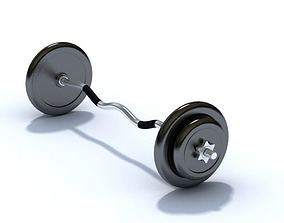 3D Curved Barbell With Weights
