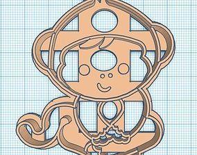 3D print model Monkey Cookie Cutter