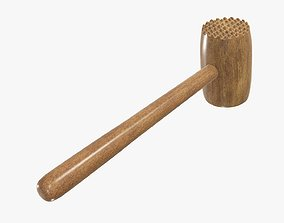 3D Wooden meat tenderizer hammer
