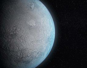 3D Eris Fictional World Planet