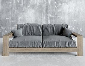 Walnut Wood Furniture 3D