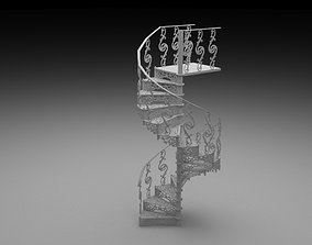 Cast Iron Staircase 3D model