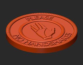 3D printable model No Handshake virus badges and pendant