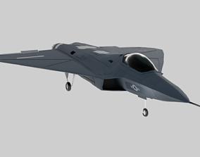 3D asset USAF Lockheed Martin - X-44 MANTA - No Tail 1