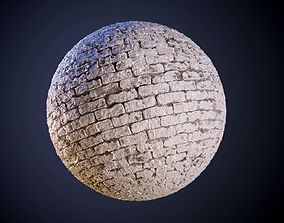 Painted Brick Wall Seamless PBR Texture 3D model