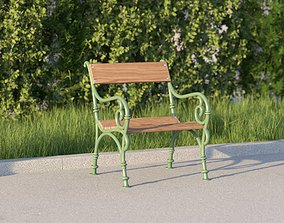 vienna public park chair 3D model
