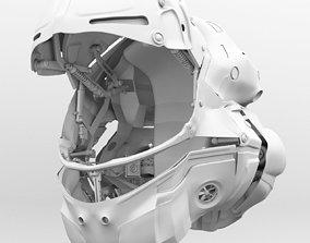 Helmet futuristic 3D model