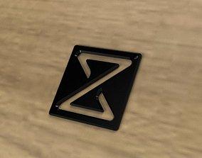 3D print model Z plate keychain