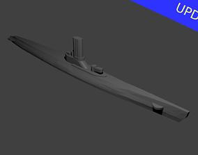 3D printable model Japanese Type-C Submarine