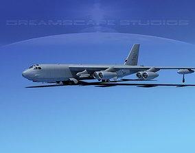 3D Boeing B-52H Stratofortress V03