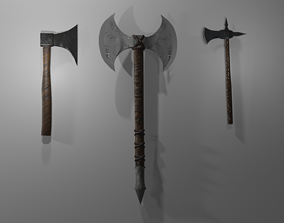 3D model Medieval Axes