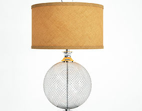 Uttermost Catalan Polished Nickel Cage Table Lamp 3D