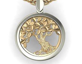 rhino 3D print model beautyful pendant tree of life