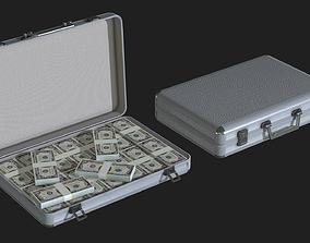 Lowpoly Money Suitcase 3D asset