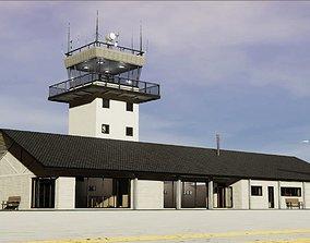 Airport Terminal 3D asset VR / AR ready