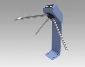 3D Turnstile blue tripod