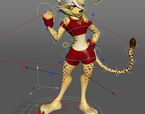 cheetah 3D Character Model animated