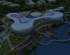 city building 3D model east
