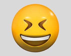 Emoji Grinning Squinting Face 3D model