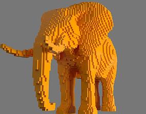 3D printable model elephant AS LowRez Series - Elephant