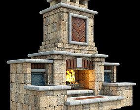 Outdoor Fireplace 008 3D